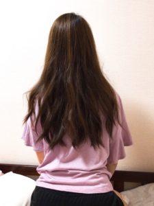 髪全体を巻き終えた写真