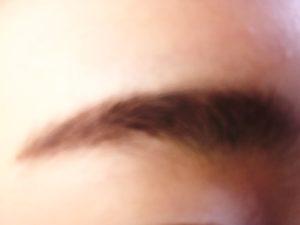 NOVのアイブロウを眉毛に塗った写真