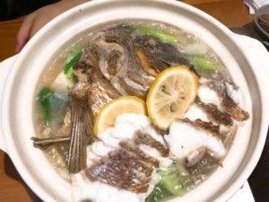 鯛柚子鍋の写真その2