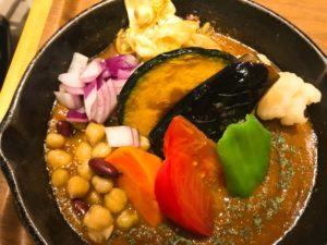 ベジカレーの野菜アップ写真