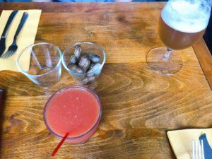 ブラッドオレンジジュースとハートランド生ビール